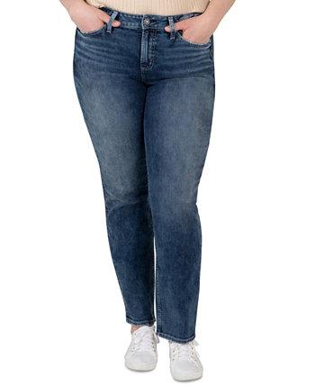 Trendy Plus Size Avery Straight-Leg Jeans Silver Jeans Co.