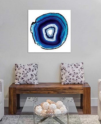 """Indigo Oxide"" by 5by5collective Gallery-Wrapped Canvas Print (26 x 26 x 0.75) ICanvas"
