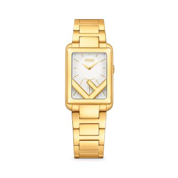 Run Away Goldtone Stainless Steel Bracelet Watch Fendi Timepieces