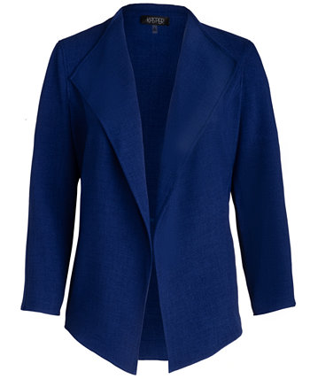 Plus Size Cropped Shawl-Collar Blazer Kasper