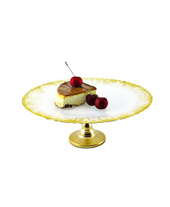 Milky Glass Cake Stand with Flashy Design Classic Touch