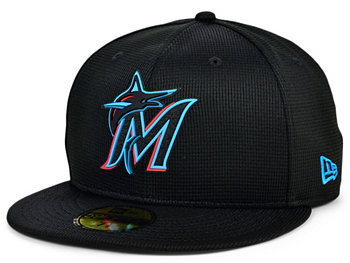 Kids  Miami Marlins 2020 Clubhouse 59FIFTY-FITTED Cap New Era
