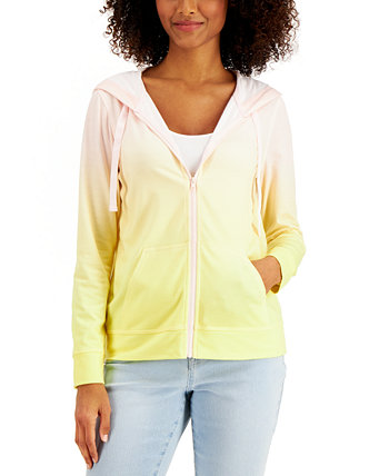 Ombré Zip Hoodie, Created for Macy's Style & Co