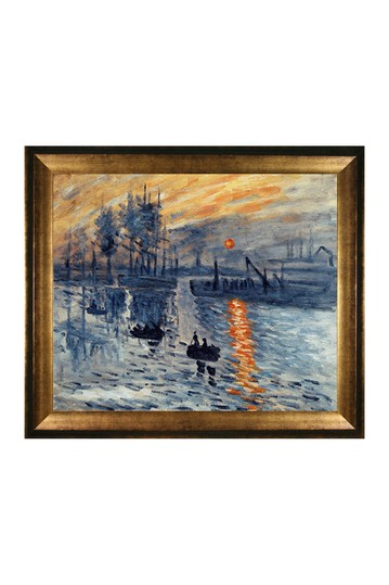 "Impression, Sunrise with Athenian Gold Frame , 25"" x 29"" No brands"