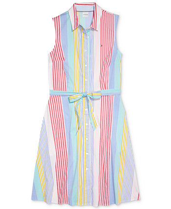 Multi-Striped Button-Front Shirtdress Tommy Hilfiger