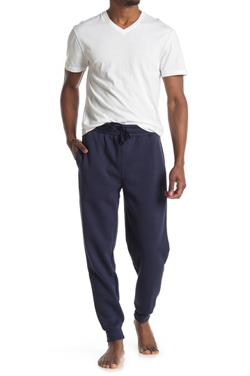 White Tee Navy Pocket Jogger Set Loungehero