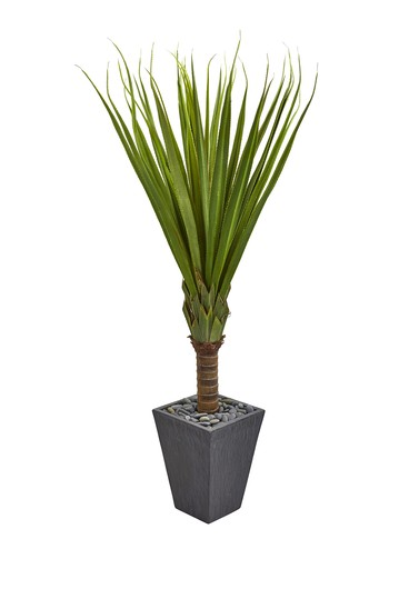 5.5ft. Spiky Agave Artificial Plant in Slate Planter NEARLY NATURAL