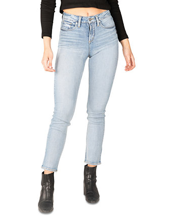 Avery High-Rise Straight-Leg Jeans Silver Jeans Co.