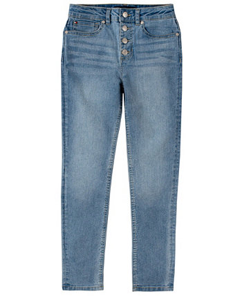 Toddler Girls High-Waisted Skinny Denim with Button Fly Tommy Hilfiger