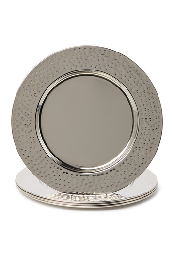 Silver 13-Inch Round Chargers - Set of 4 Jay Import