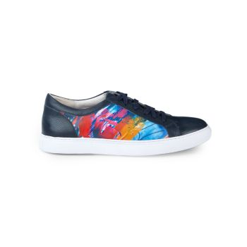 Finish Line Printed Leather Sneakers Robert Graham