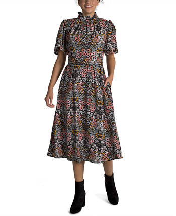 Printed Chiffon Midi Dress Julia Jordan