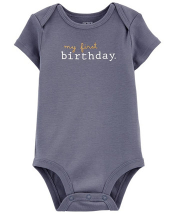 Baby Boy My First Birthday Original Bodysuit Carters