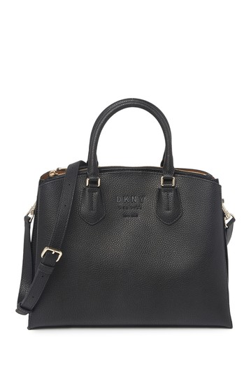Noho Large Pebbled Leather Triple Compartment Tote Bag DKNY