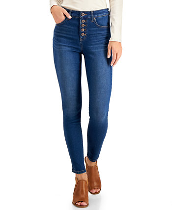 Button-Fly Skinny Ankle Jeans, Created for Macy's Style & Co
