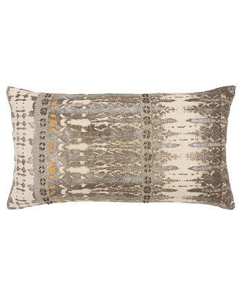 """Abstract Decorative Pillow Cover, 26"""" x 14"""" Rizzy Home"""