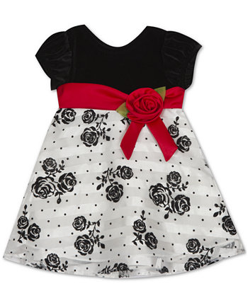 Baby Girls Flocked Dress Rare Editions
