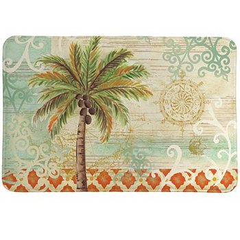Spice Palm Memory Foam Rug Laural Home
