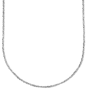 14k White Gold Perfectina Chain Necklace (1-1/8mm) Italian Gold