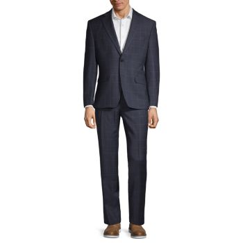 Classic-Fit Tonal Windowpane Wool Suit LAUREN Ralph Lauren