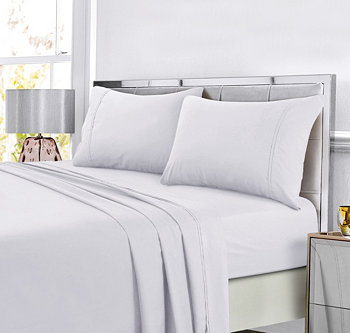 Super Soft Solid DP Easy-Care Extra Deep Pocket Sheet King Sheet Set Tribeca Living