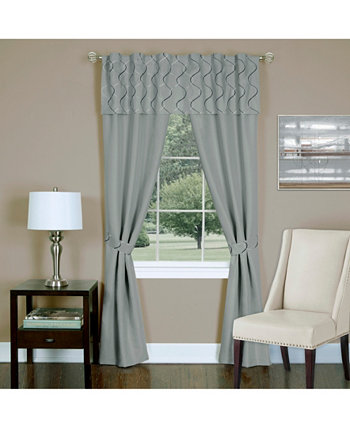 Trellis 5 Piece Window Curtain Set, 55x63 Achim