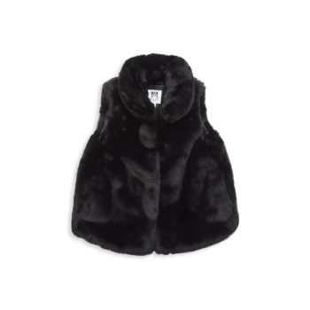Girl's Faux Fur Vest Milly Minis