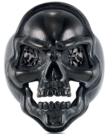 Men's Cubic Zirconia Skull Ring in Black Ion-Plated Stainless Steel Andrew Charles by Andy Hilfiger