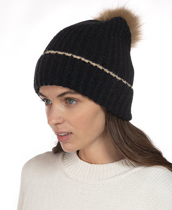 Ribbed Beanie Hat With Faux-Fur Pom, Created for Macy's Style & Co