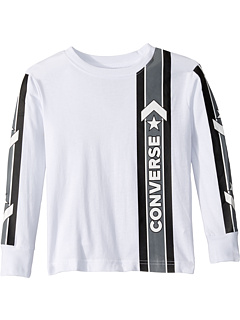 Long Sleeve Wordmark Graphic T-Shirt (Little Kids) Converse Kids
