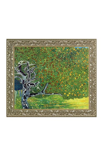 """Golden Apple Tree (Luxury Line) with Rococo Silver , 25.5"""" x 29.5"""" No brands"""