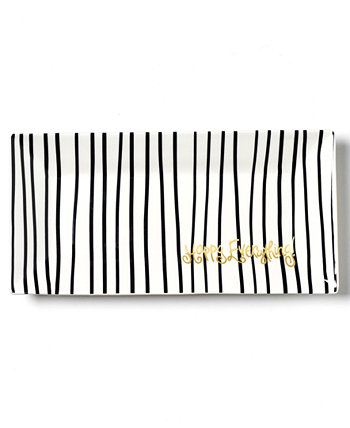 Happy Everything by Laura JohnsonCollection Black Stripe Scoop Tray Coton Colors