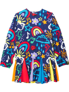 Long Sleeve Crayon Weather Dress with Inserts (Toddler/Little Kids/Big Kids) Stella McCartney Kids