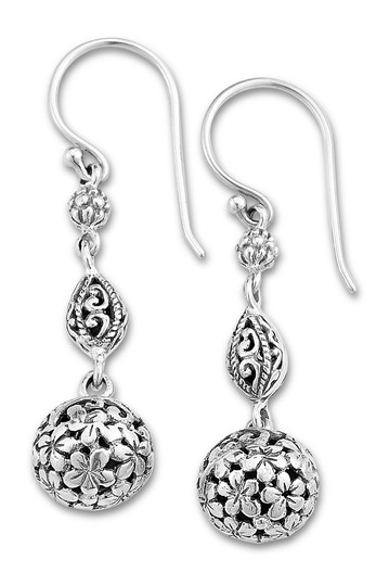 Sterling Silver Filigree Ball Drop Earrings Samuel B Jewelry