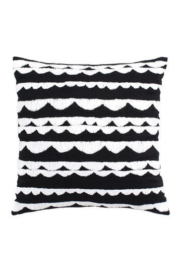 black scalloped row decorative pillow Kate Spade New York