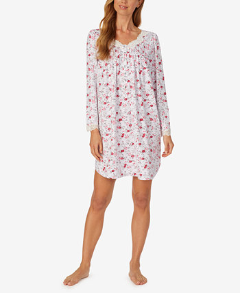 Scalloped-Lace-Trim Nightgown Eileen West