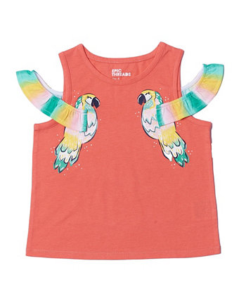 Little Girls Graphic Cold Shoulder Tank Top Epic Threads