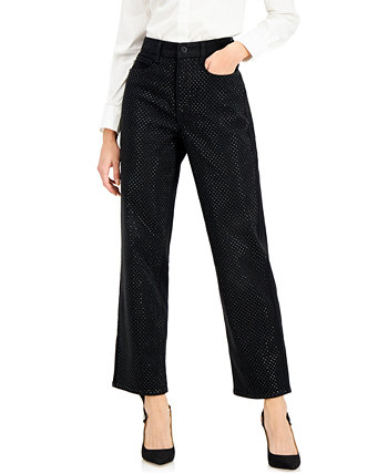 INC High-Rise Embellished Straight-Leg Jeans, Created for Macy's INC International Concepts