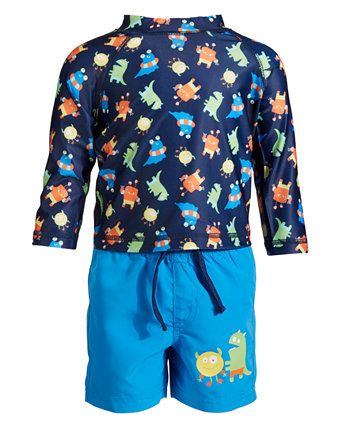 Toddler Boys Monster Rash Guard Set, Created for Macy's First Impressions