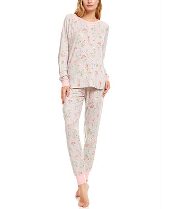 Floral Nikrooz Collection Maddie Printed Hacci Pajama Set Flora Nikrooz Collection