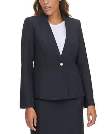 Single-Button Notched-Collar Blazer Calvin Klein