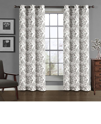 "Scroll Crushed Microfiber Window Panel, 40"" x 84"" Universal Home Fashions"