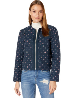 Collarless Floral Quilted Jacket Blank NYC