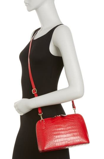 Bonnie Croc Embossed Leather Crossbody CHRISTIAN LAURIER