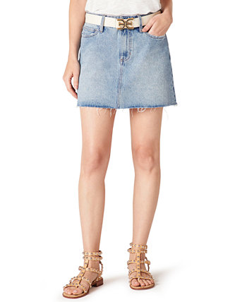 The Jenny Cotton Denim Mini Skirt Sam Edelman