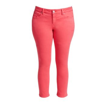 Mid-Rise Straight Jeans Slink Jeans, Plus Size