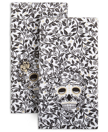 Skull & Vine Kitchen Towels, Set of 2 FIESTA