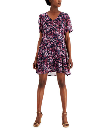 Petite Printed Fit & Flare Dress Connected