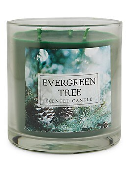 Evergreen Tree 3-Wick Scented Candle Home Traditions