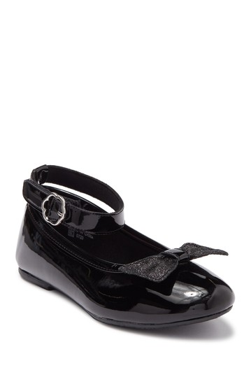 Beth Bow Ankle Strap Ballet Flat (Toddler, Little Girl, Big Girl) Valencia Imports